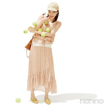 西野七瀬はセットアップで今っぽフェミニンな夏コーデ【毎日コーデ】