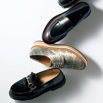 「男顔フラット靴」は今秋スタイルの引き締め役にぴったり【格上げフラット靴】