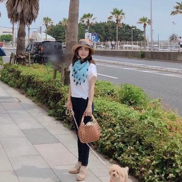 アレンジTで愛犬を連れて江ノ島デート♪