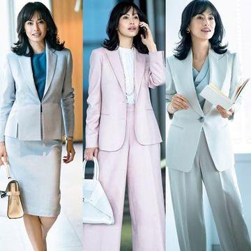 【50代女性管理職ファッション】知的に見えて華もある!着映える「春のビジネススーツ」