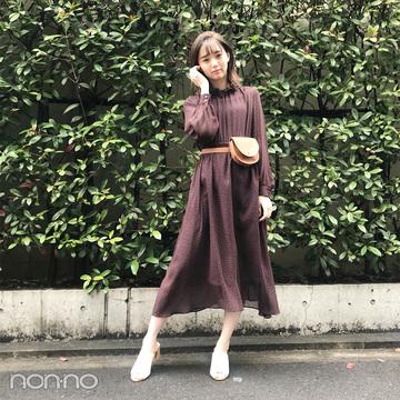 江野沢愛美はウエストポーチでロングワンピを今っぽく♡【毎日コーデ】