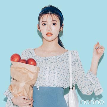 2021年春のトレンド服でコーデレッスン★ レトロな小花柄ブラウス