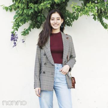 新木優子の秋の6着+チェックジャケット★着回しコーデ5days!