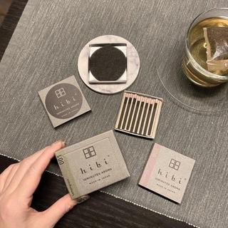 マッチ型お香「hibi」と白茶で夜のリラックスタイム