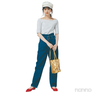 西野七瀬はピタゆるシルエットのマリンルックを最旬に進化!【毎日コーデ】