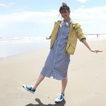 西野七瀬はナイロンパーカ×シャツワンピでカジュアルモテ♡【毎日コーデ】