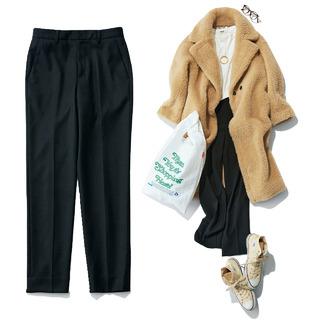 超定番「黒パンツ」をマンネリしないで今どきにはくコツは?【40代・冬のファッションコーデまとめ】