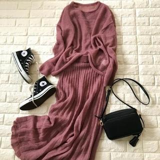 冬フェミニンはこれ着たい!最強ピンクのセットアップ【高見えプチプラファッション #70】