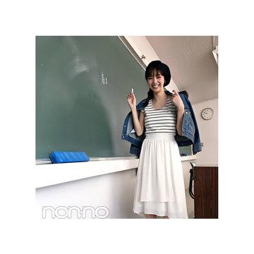 毎日コーデ★新川優愛は白の揺れスカートで好印象コーデ♪