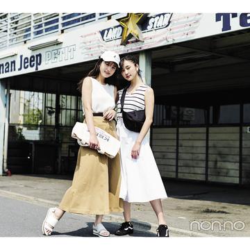 夏の白でモテコーデ★スポカジミックスが新鮮!