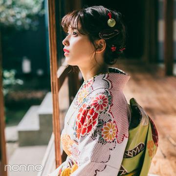 渡邉理佐の振袖コーデ♡ レトロな白はビタミンカラー合わせで今っぽく!【成人式2019】