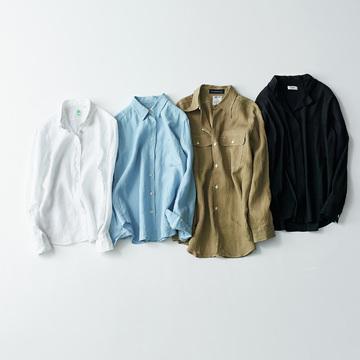 長く愛せるシンプルさと上質素材で勝負「シャツ」