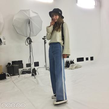 佐藤エリの冬コーデ♡ ボアつきコンバースできれいめスポーティ【モデルの私服】
