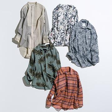 控えめカラー×夏らしいプリントで洗練度倍増! プリントシャツ5