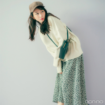 レオパード柄スカートはカジュアルミックスで成功する!【毎日コーデ】