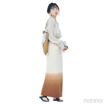 透け感シャツ&グラデスカートでリラックススタイルをアプデ【毎日コーデ】