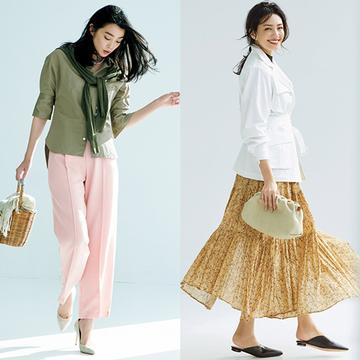 この春の二大トレンド!「華やぎスカート」と「主役級パンツ」