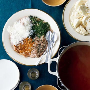 自由にトッピング! 4つの味のつくね鍋【絶品鍋レシピ28days】