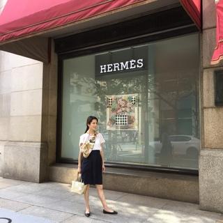 Hermesの洗えちゃうスカーフ✨