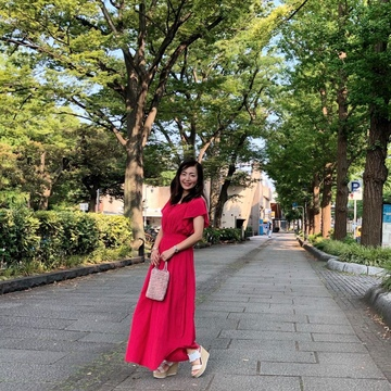 真っ赤なワンピースを着て横浜へ♪_1_8-1