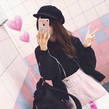 Vol.4♡ Pink × Blackで大人ガーリーcoordinate❤︎