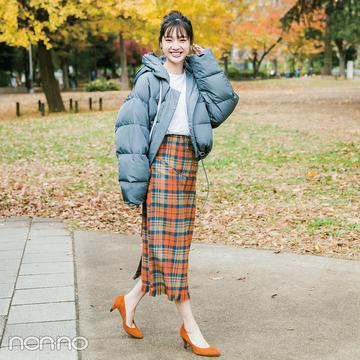 新川優愛はショートダウンをタイトスカートでレディに【毎日コーデ】