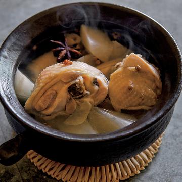 チキンと大根の香り鍋