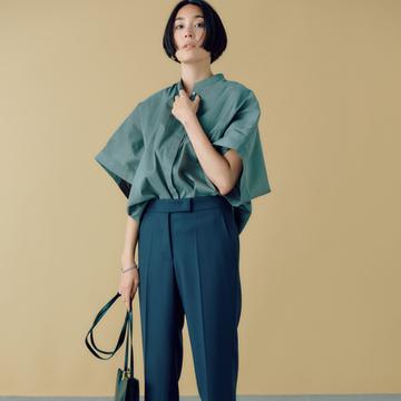脚長効果抜群! ラクなのにスタイル美人になれる「渋色パンツ」とは?
