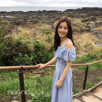 新木優子のヘルシー可愛いオフショルロングワンピ【毎日コーデ】