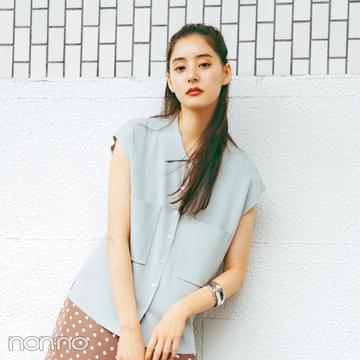 新木優子×新しいこと始まる秋服。「スカートはロング丈で華やかに」