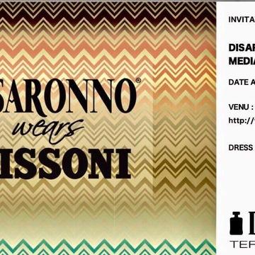 DISARONNO  wears  MISSONI メディアレセプションパーティーへ