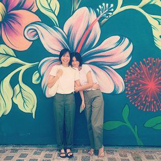 ハワイロケへ。マリソルモデル ブレンダの40代双子コーデ、いい感じです