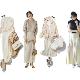 甘すぎない女らしさと軽やかな上品さが手に入るベージュコーデのまとめ|40代 ファッション