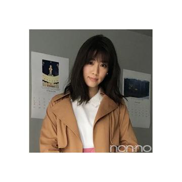 岡本杏理のピンクがスパイスのきれいめコーデ【毎日コーデ】