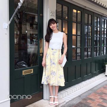 新川優愛はノースリーブ×ひざ下スカートでお姉さんモテ♡【毎日コーデ】