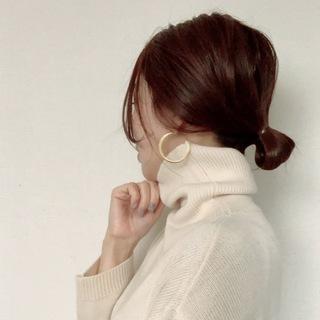 [秋冬ヘア]ニット×ヘアアレンジ