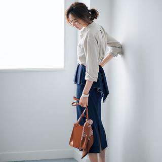 ミディ丈スカート20選。大人っぽい落ち着きと軽やかさがアラフォーにぴったり!