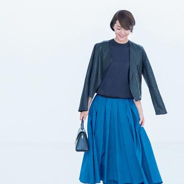 3. きれい色のスカートは、同系色でまとめるのが大正解