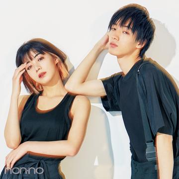 『貞子』で話題の池田エライザさんが、清水尋也さんと夏の黒でリンクコーデを披露!