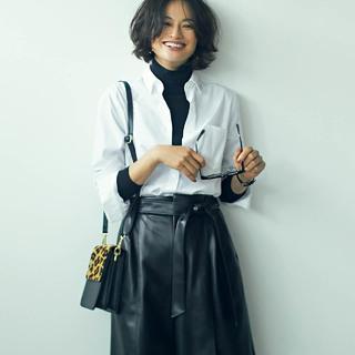この秋、辛口コーデ好きは「映えるレザーのスカート&パンツ」でおしゃれ鮮度がグッとアップ!