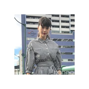 馬場ふみかが着る流行りのギンガムチェックセットアップ【毎日コーデ】