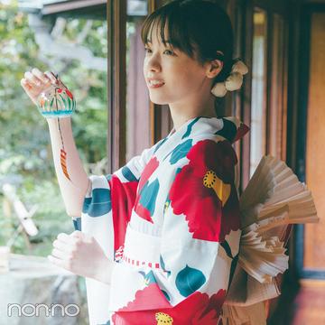 【西野七瀬の夏浴衣2021】凛とした美しさを引き出してくれる椿柄