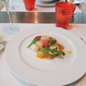 真鯛と野菜のマリネ