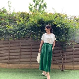 今年トレンドカラーのグリーンが着たい!