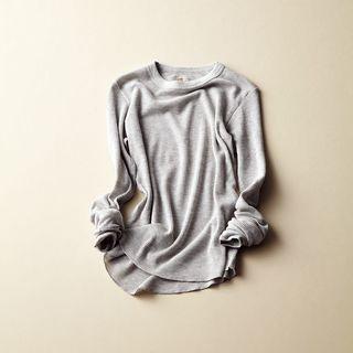 スタイリストも愛用する、ヘインズのサーマルTシャツニット