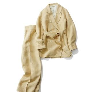 セットでも、単品でも。絶対使える!ベージュのジャケット&パンツ3選