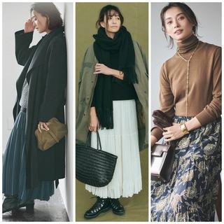 40代のスカートコーデはもっと華やぐ! 冬のスカート着こなしテクまとめ|40代ファッション