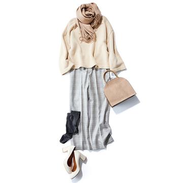 【Day14】コートいらずの暖かい日は、パンツ+タイツで軽やかに【冬の洗練パンツ30days】