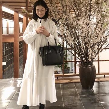 春、GUの褒められワンピースで箱根へ