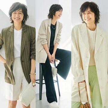 富岡佳子さんが着る『春ジャケット』気取らずカジュアルに着たい